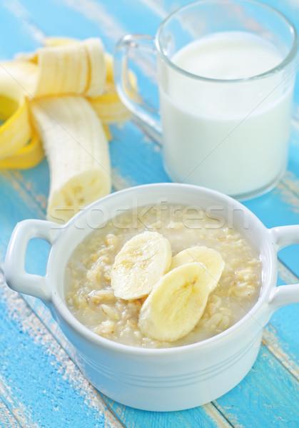 ストックフォト: 燕麦 · バナナ · 食品 · 背景 · トウモロコシ