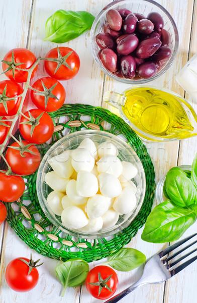材料 カプレーゼ 食品 葉 油 ディナー ストックフォト © tycoon