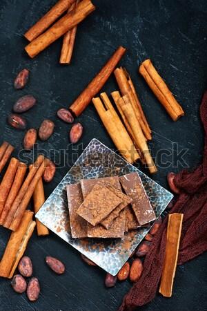 çikolata gıda kahve bar şeker Noel Stok fotoğraf © tycoon