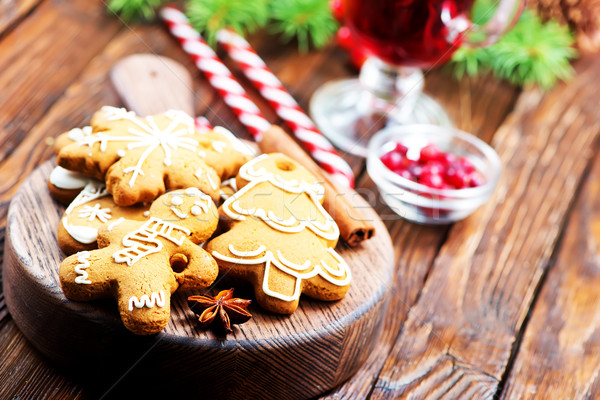 クリスマス クッキー スパイス プレート 背景 ストックフォト © tycoon