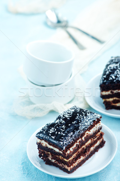 chocolate cake Stock photo © tycoon