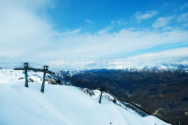 Invierno montanas ruso deporte montana silla Foto stock © tycoon