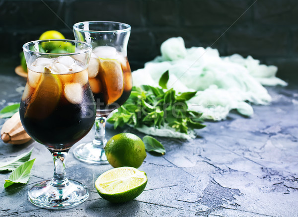 drink with limes Stock photo © tycoon