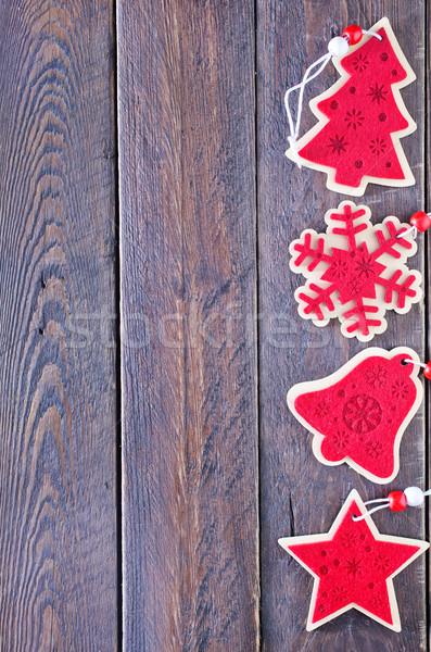 Natale decorazione albero tavolo in legno legno spazio Foto d'archivio © tycoon