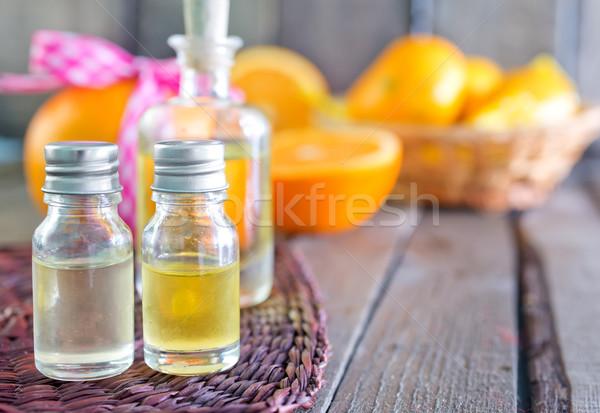 Lezzet yağ şişe tablo vücut sağlık Stok fotoğraf © tycoon