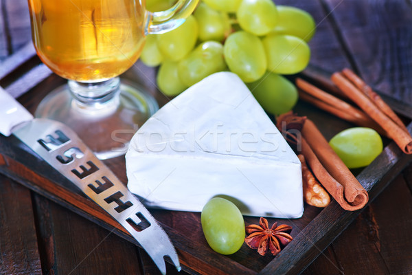 камамбер винограда сыра зеленый продовольствие Сток-фото © tycoon