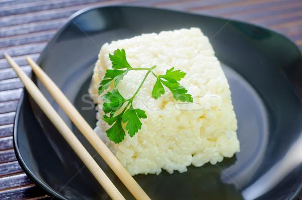 Pirinç doğa akşam yemeği bitki Çin Stok fotoğraf © tycoon