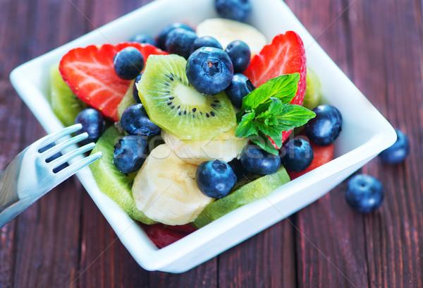 フルーツサラダ 新鮮果物 サラダ 白 ボウル フルーツ ストックフォト © tycoon
