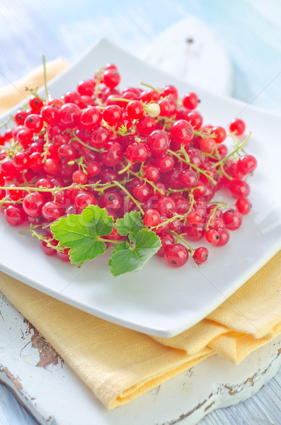 Foto stock: Vermelho · groselha · comida · quadro · verão · verde