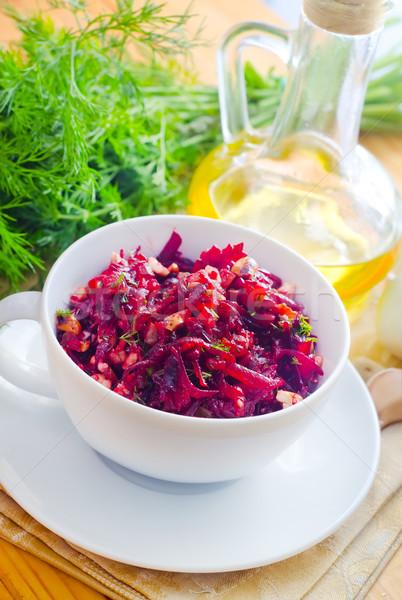 Fresco salada vegetariano comida folhas rosa Foto stock © tycoon