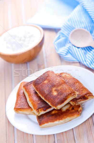 Panquecas casa de campo nata tabela queijo jantar Foto stock © tycoon