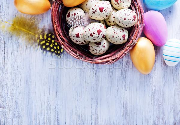 Dekoratif boyalı paskalya yumurtası tablo Paskalya gökyüzü Stok fotoğraf © tycoon