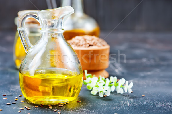 flax seed and oil Stock photo © tycoon