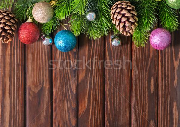 Natale decorazione tavolo in legno luce tavola regalo Foto d'archivio © tycoon