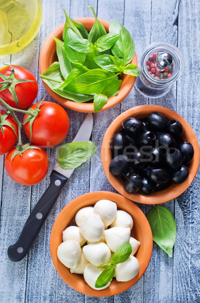 ingredient for caprese Stock photo © tycoon