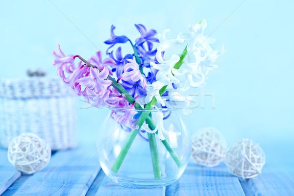 Kwiaty Wazon tabeli kwiat charakter tle Zdjęcia stock © tycoon