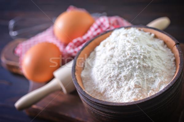 Harina mesa blanco grano cereales panadería Foto stock © tycoon