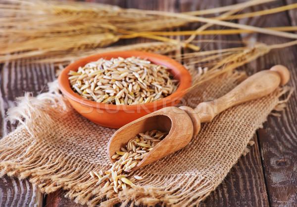 燕麦 穀物 ボウル 表 フィットネス ストックフォト © tycoon