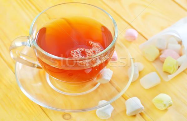 Stock fotó: Friss · tea · cukorka · otthon · jókedv · csésze