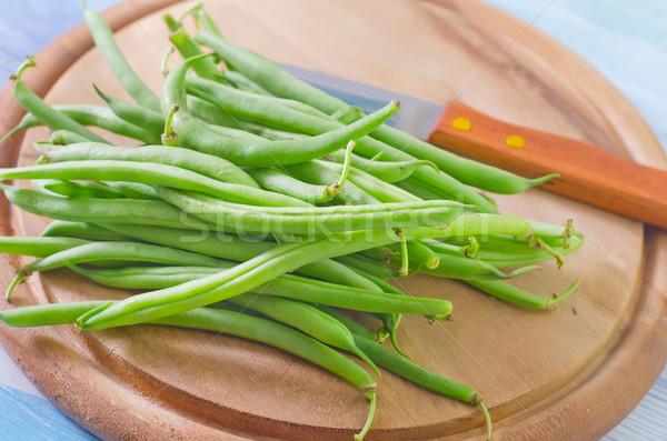 Zöldbab levél egészség háttér zöld tányér Stock fotó © tycoon