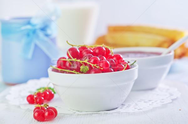 Stok fotoğraf: Kırmızı · frenk · üzümü · gıda · çim · ev · sağlık
