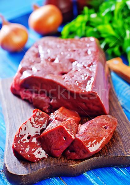 raw liver Stock photo © tycoon