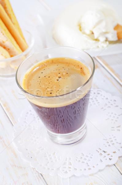 Ingrediënten tiramisu voedsel koffie cake dessert Stockfoto © tycoon