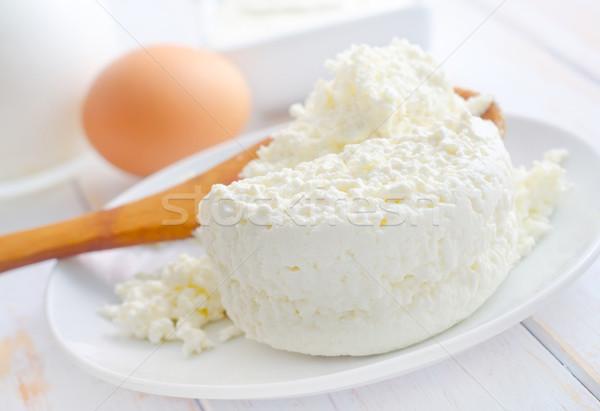 ミルク 製品 新鮮な コテージ 白 プレート ストックフォト © tycoon