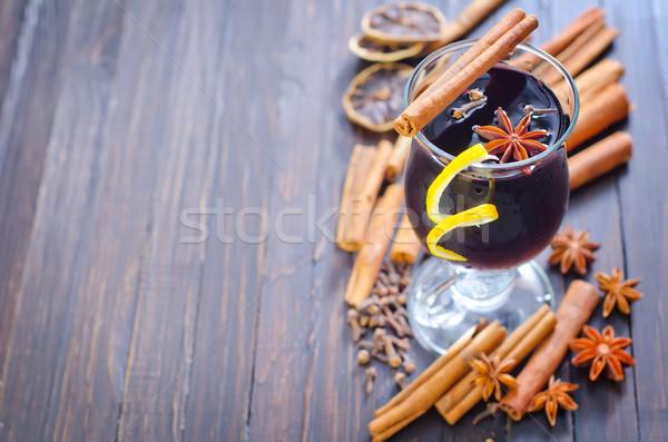 glint wine Stock photo © tycoon