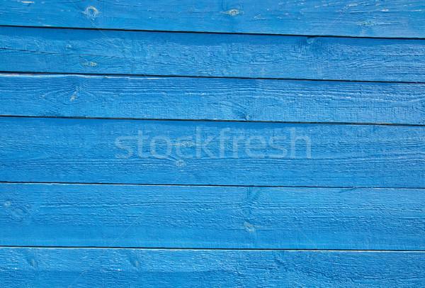 Stockfoto: Blauw · houten · muur · gebouw · bouw · deur