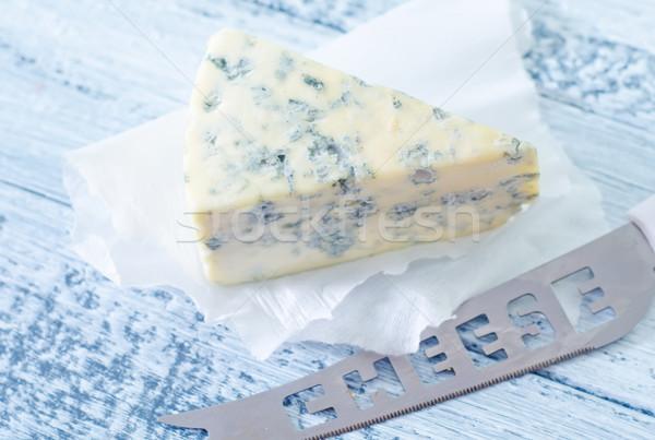 Formaggio tipo gorgonzola blu piatto mangiare bordo picnic Foto d'archivio © tycoon