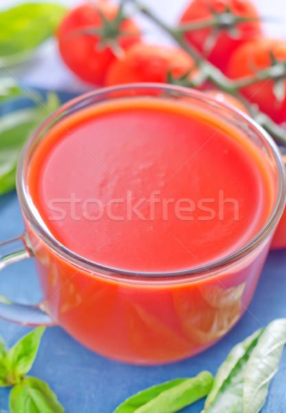Tomatensap voedsel glas gezondheid groene drinken Stockfoto © tycoon