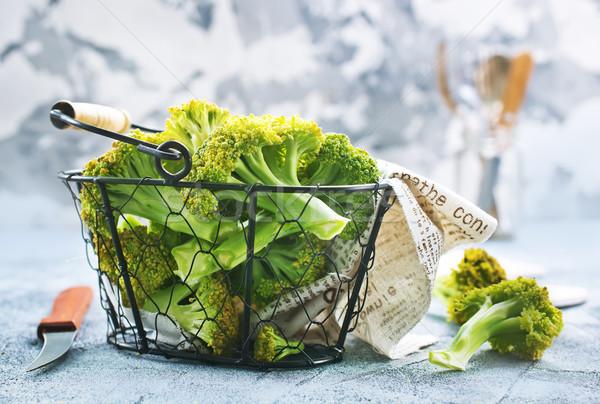 Brócoli mesa frescos stock foto verde Foto stock © tycoon