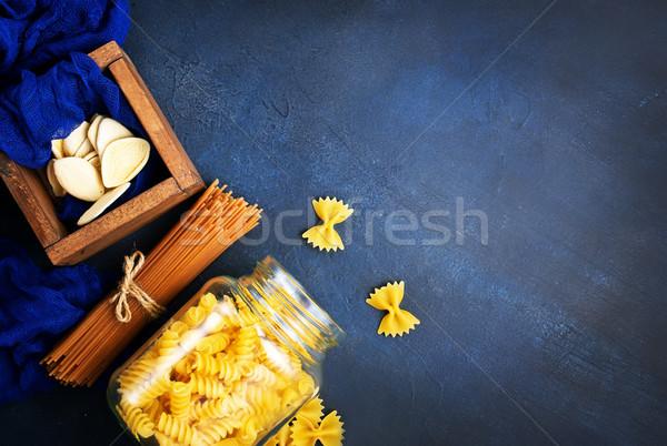 Stock fotó: Tészta · különböző · nyers · asztal · stúdió · nyakkendő