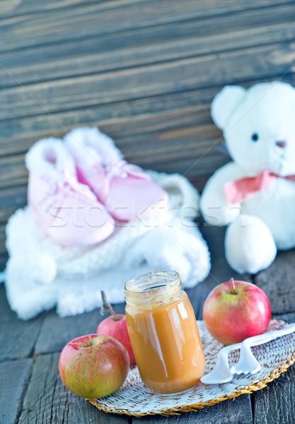 Alimentos para bebês banco tabela comida crianças brinquedo Foto stock © tycoon