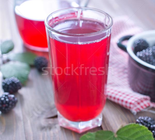 blackberry juice Stock photo © tycoon