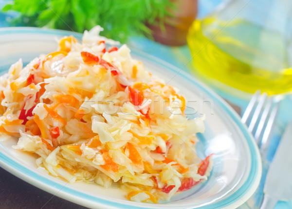 Kool salade voedsel keuken restaurant plaat Stockfoto © tycoon