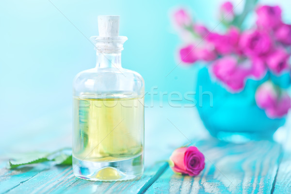 rose oil in glass bottle Stock photo © tycoon