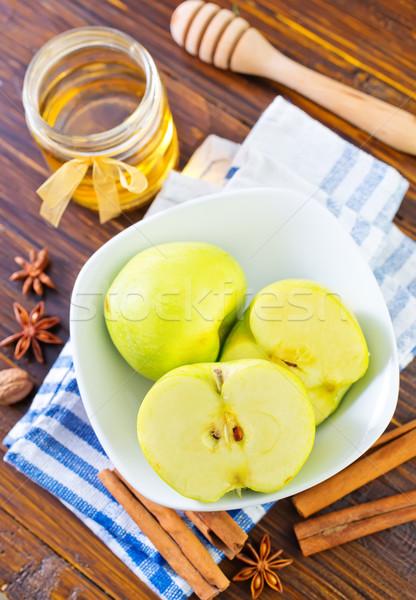 Elma gıda ışık meyve yeme sepet Stok fotoğraf © tycoon