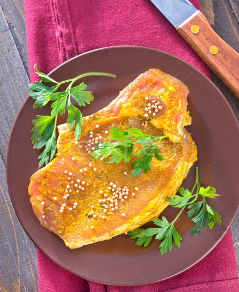 raw meat with marinade Stock photo © tycoon