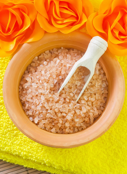 Objecten spa brand home oranje kaars Stockfoto © tycoon