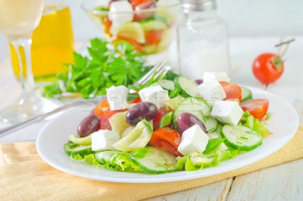 Greco insalata foglia impianto pomodoro fresche Foto d'archivio © tycoon