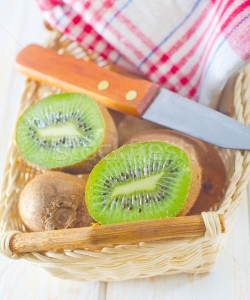Taze kivi gıda el meyve mutfak Stok fotoğraf © tycoon