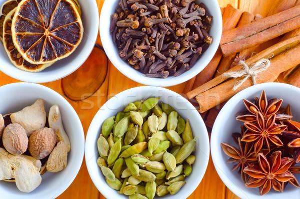 Aroma Spice voedsel groene kleur koken Stockfoto © tycoon