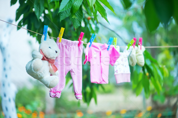 Baby vestiti famiglia shopping divertimento clean Foto d'archivio © tycoon