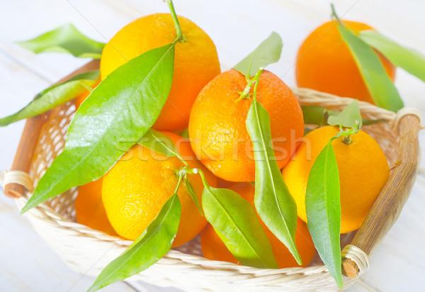 Levél egészség háttér narancs asztal trópusi Stock fotó © tycoon
