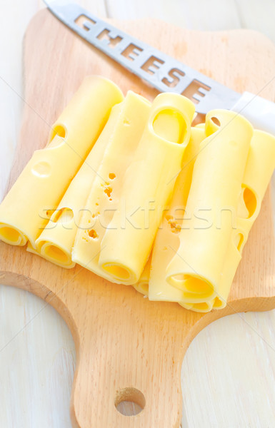 cheese on wooden board Stock photo © tycoon