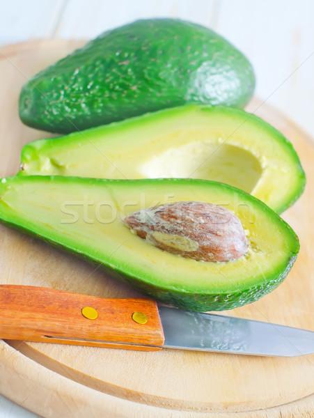 Avocado alimentare sfondo verde insalata tropicali Foto d'archivio © tycoon