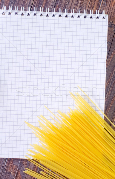 Nota ricetta carta alimentare libro frame Foto d'archivio © tycoon
