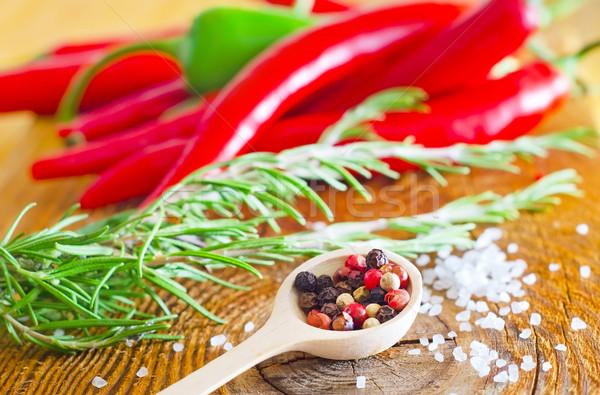 Aroma fűszer étel természet egészség zöld Stock fotó © tycoon